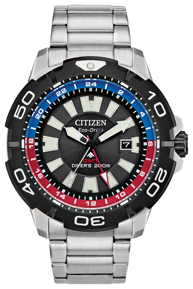 Citizen BJ7128-59E Eco-Drive Promaster GMT 44mm Black Dial Watch