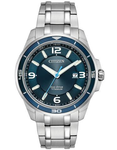 Citizen BM6929-56L Mens Titanium Blue Dial Watch