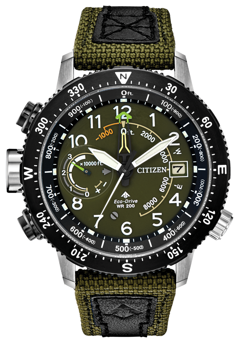Citizen BN5050-09X Promaster Altichron Green Nylon 47mm Case Eco-Drive Watch