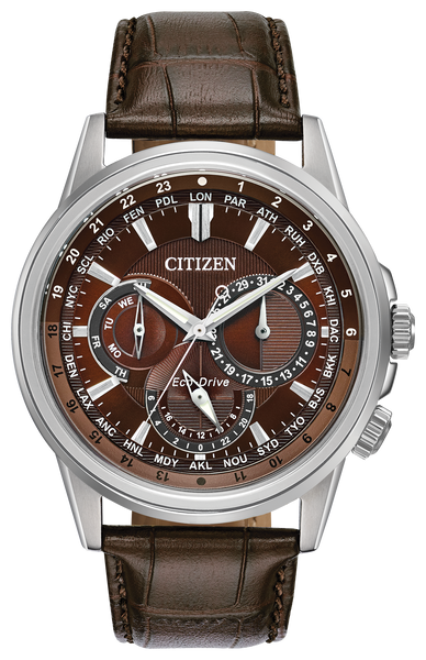 Citizen BU2020-29X Eco-Drive CALENDRIER Leather Watch