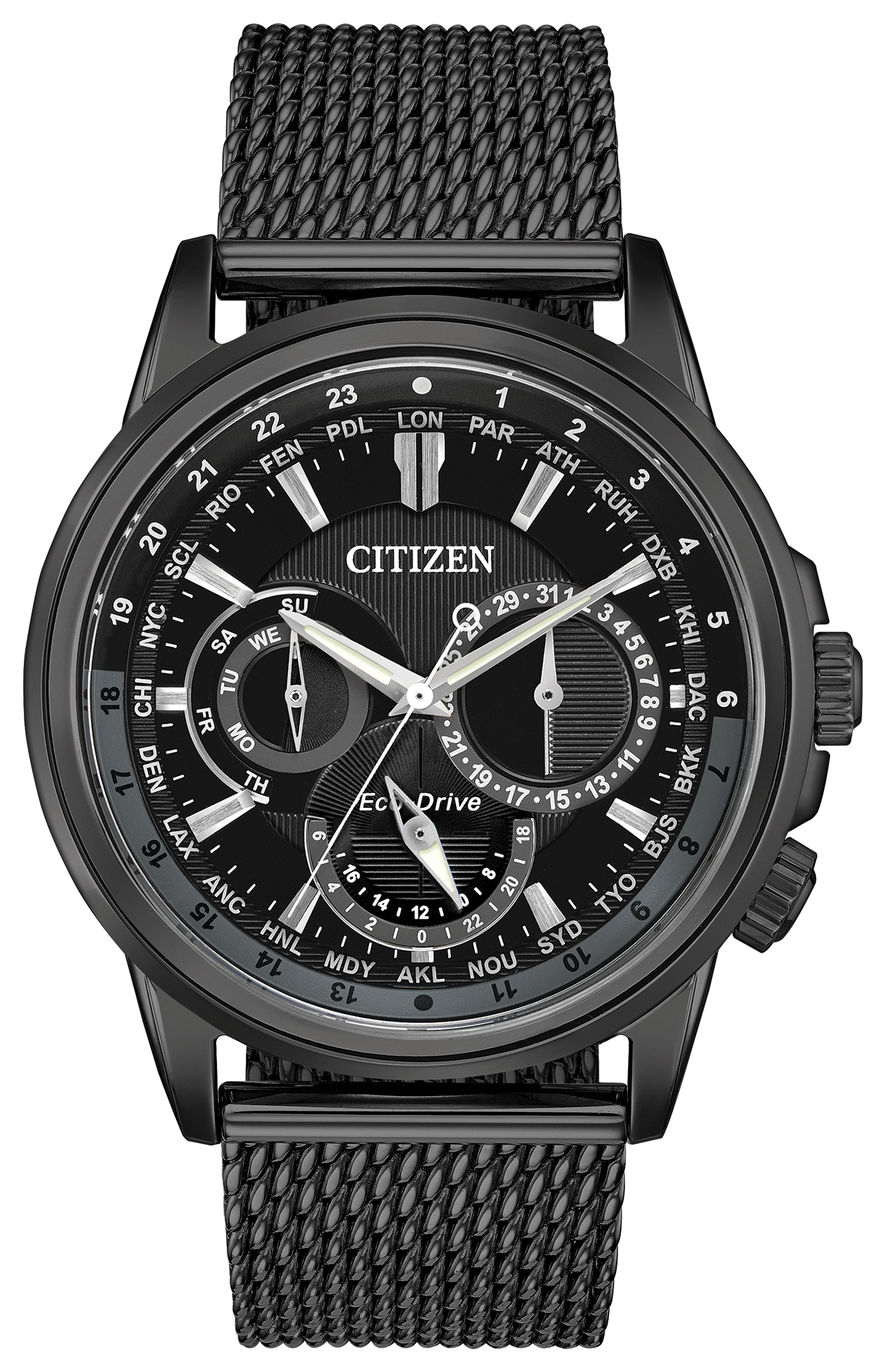 Calendrier Case.Citizen Bu2025 76e Eco Drive Calendrier Black Watch