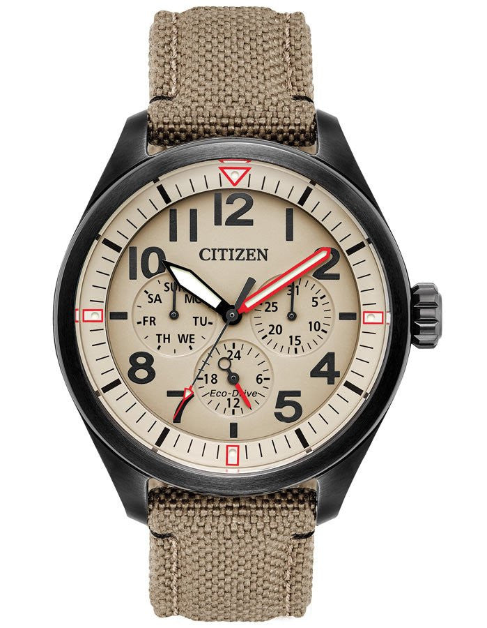 Citizen BU2055-08X Mens Ivory Dial Nylon Strap Watch