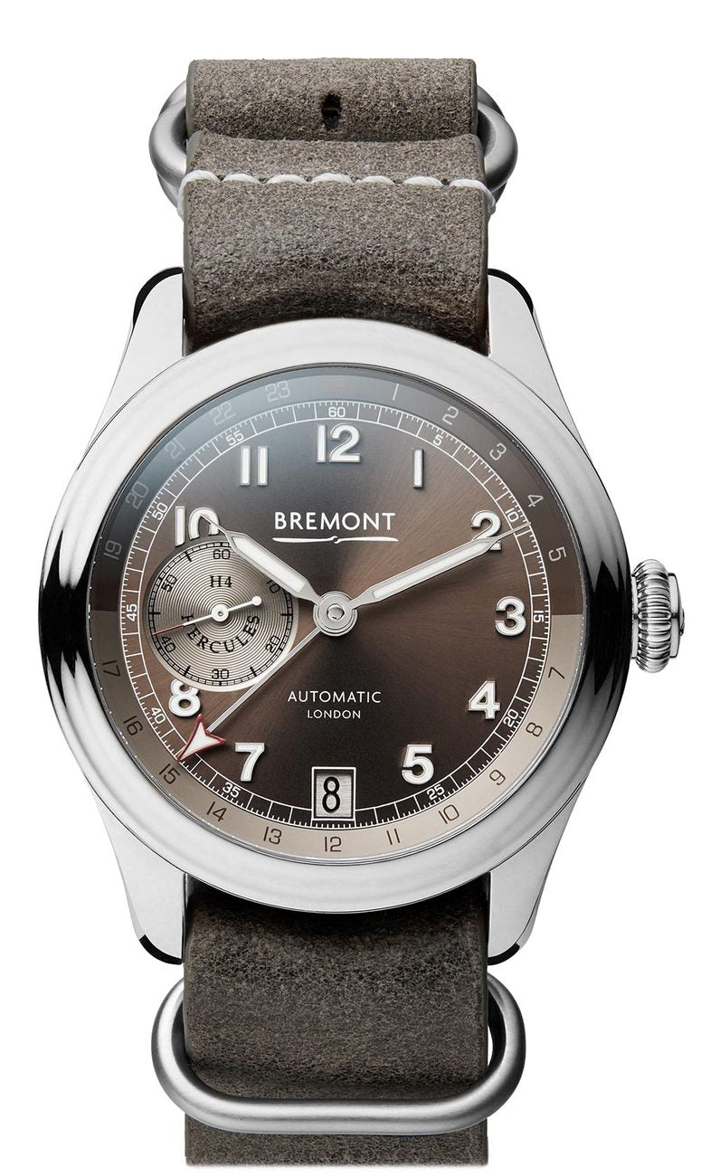 Bremont H-4 HERCULES PLATINUM Limited Edition Leather Strap Watch