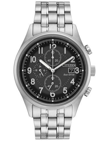 Citizen CA0620-59H Mens Chandler Stainless Steel 42mm Grey Dial Watch