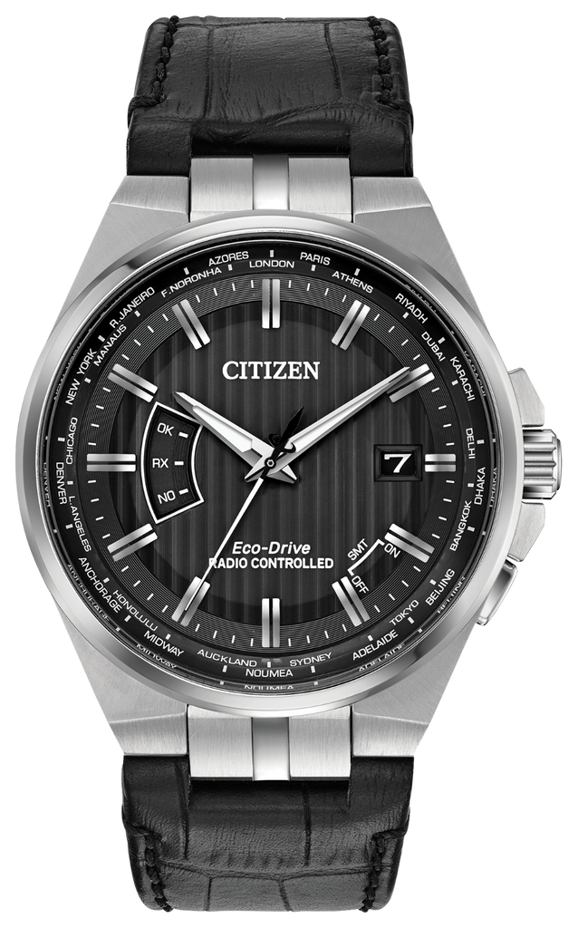 Citizen CB0160-00E Eco-Drive Leather WORLD PERPETUAL A-T Watch