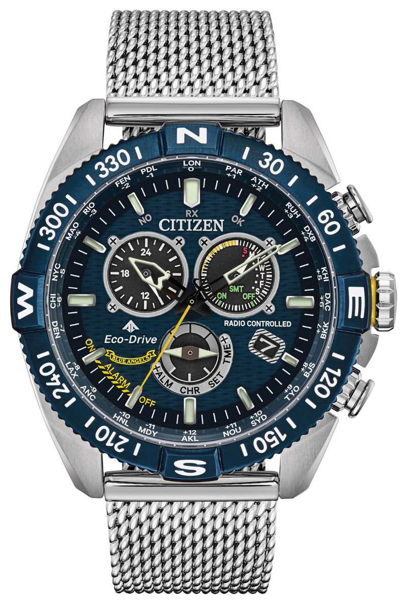 Citizen CB5848-57L Promaster Navihawk 44mm Case World Timer Watch