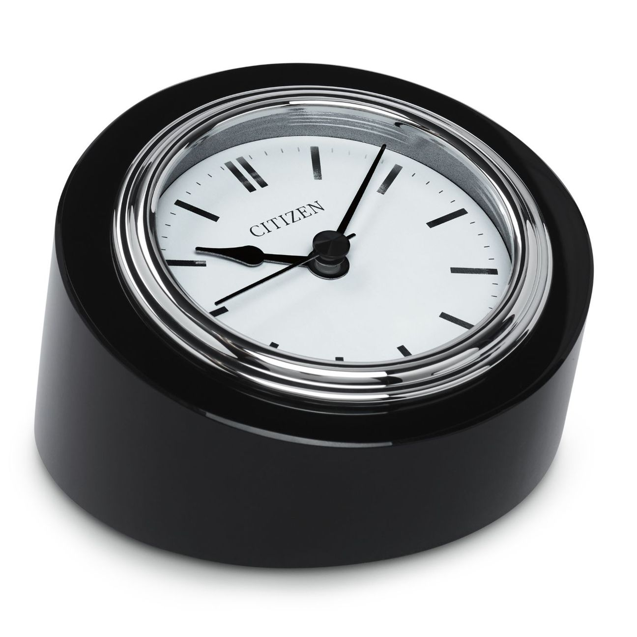 Citizen CC1005 Executive Classic Black Crystal Base Circular Desk Clock