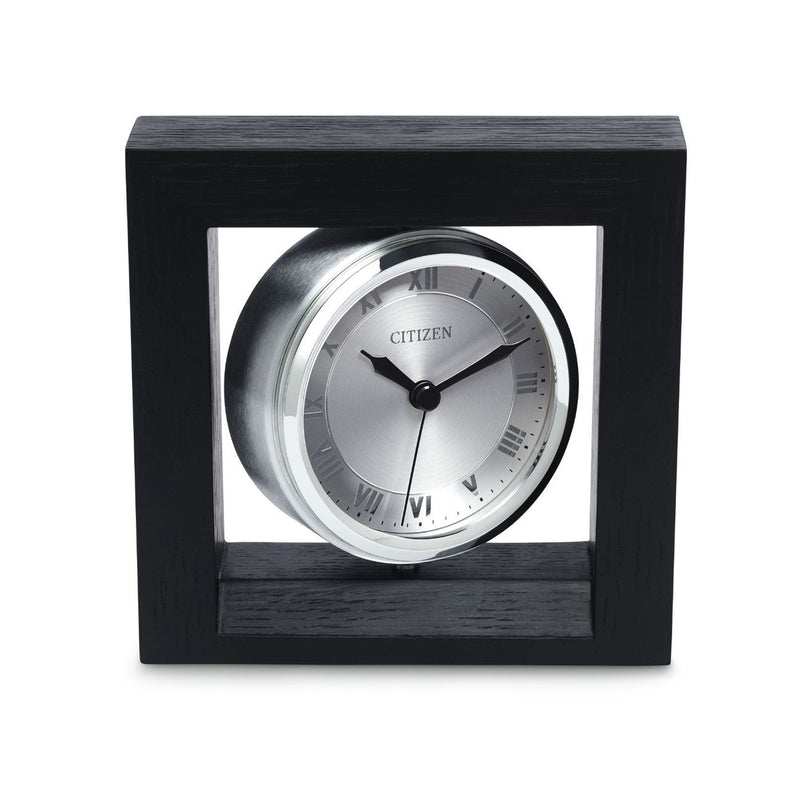 Citizen CC1009 Executive Solid Oak Aluminum Dial Desk Clock