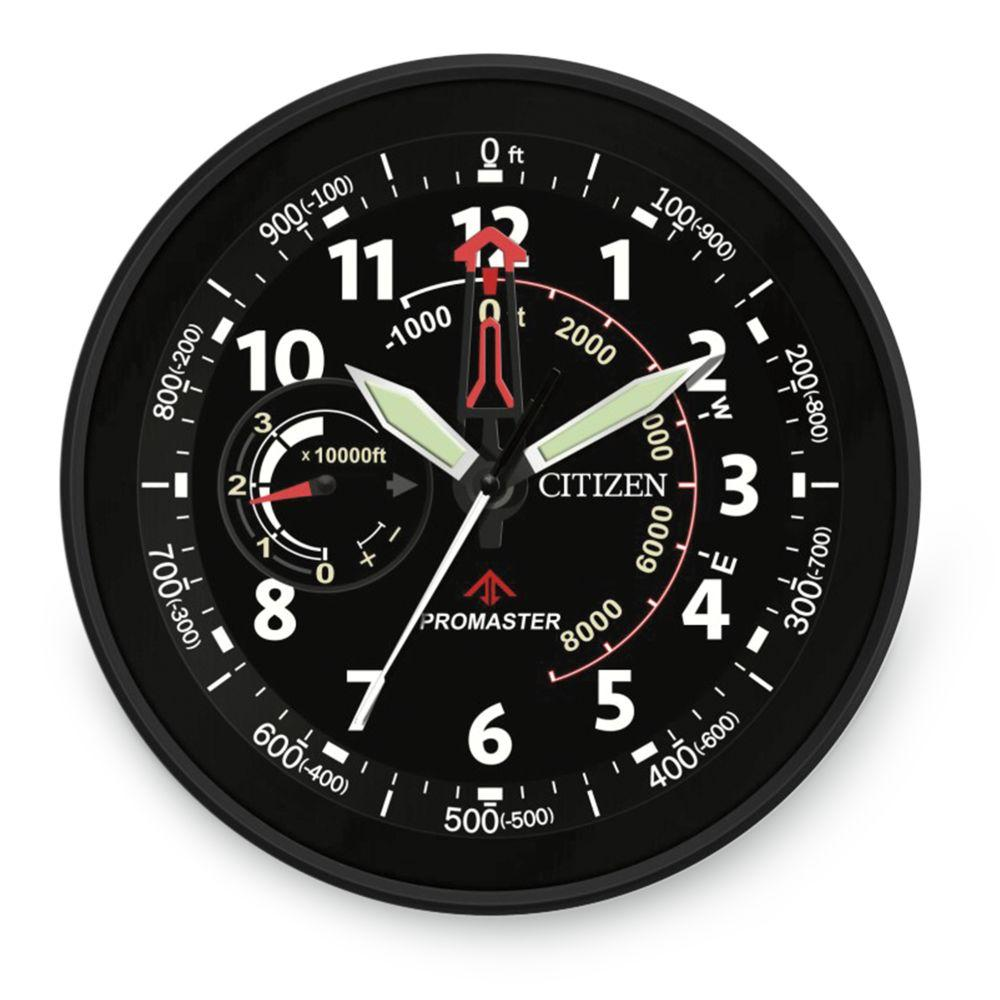 "Citizen CC2014 Outdoor Water-resistant Black Circular 13.5"" clock"