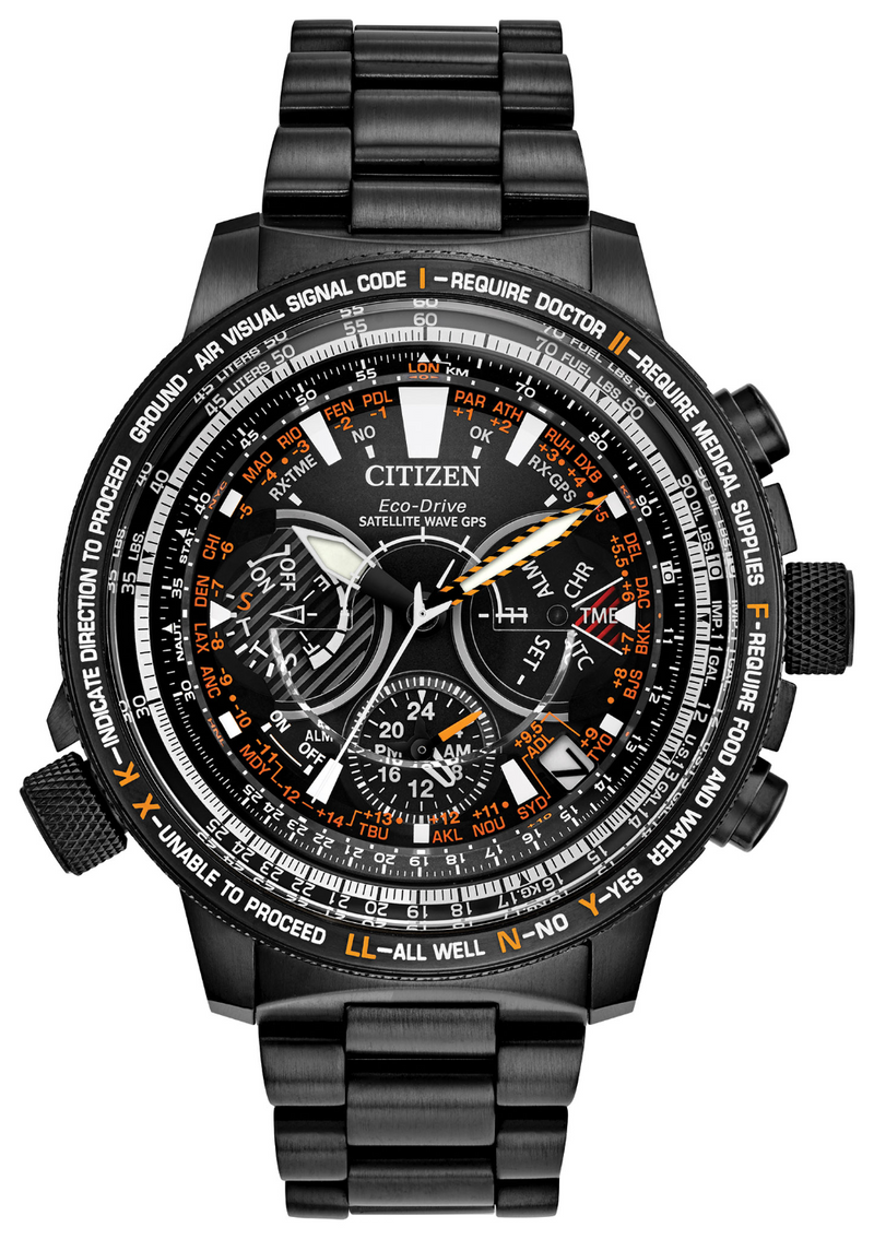 Citizen CC7015-55E Satellite Wave 47mm Titanium Black Dial Watch