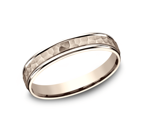 Benchmark CF154303R Rose 14k 4mm Men's Wedding Band Ring