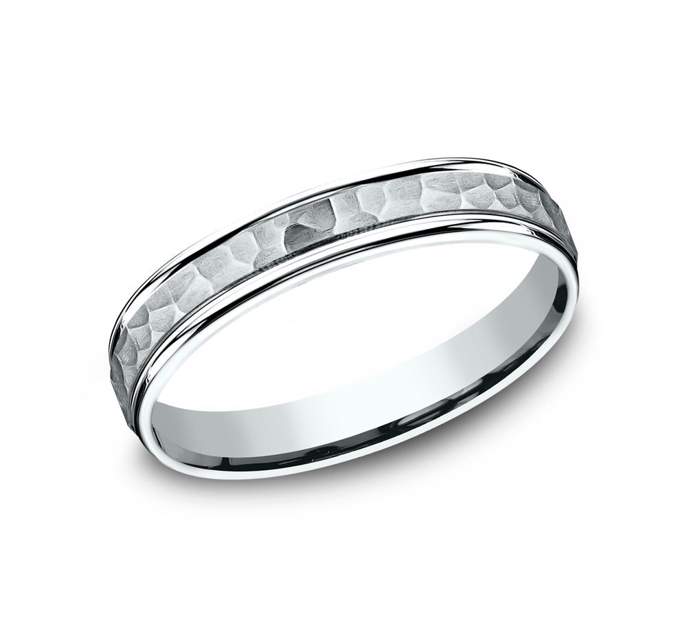 Benchmark CF154303W White 14k 4mm Men's Wedding Band Ring