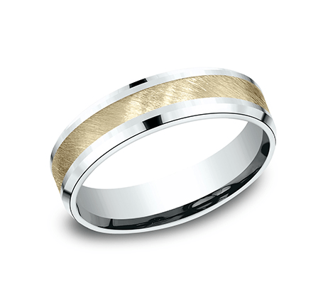 Benchmark CF206044 Multi Color 14k 6mm Men's Wedding Band Ring