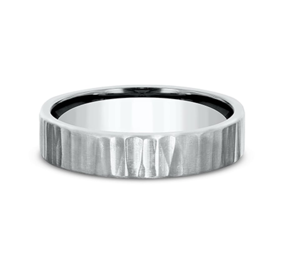 Benchmark CF65614W White 14k 5mm Men's Wedding Band Ring