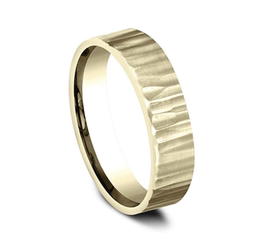 Benchmark CF65614Y Yellow 14k 5mm Men's Wedding Band Ring