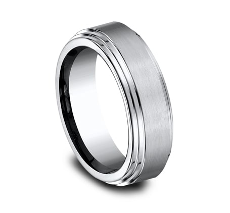 Benchmark CF66100W White 14k 6mm Men's Wedding Band Ring