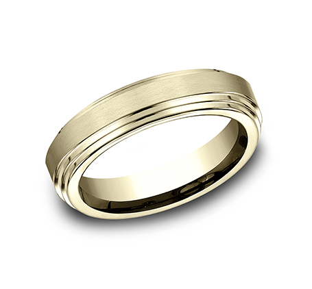 Benchmark CF66100Y Yellow 14k 6mm Men's Wedding Band Ring