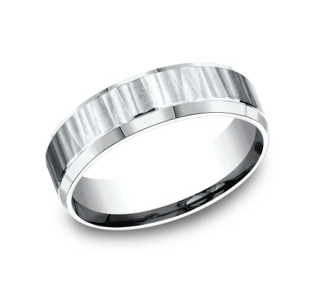 Benchmark CF66614W White 14k 6mm Men's Wedding Band Ring