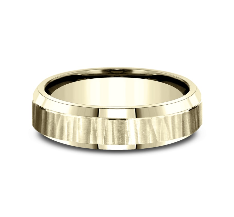 Benchmark CF66614Y Yellow 14k 6mm Men's Wedding Band Ring