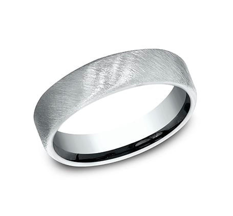 Benchmark CF755044W White 14k 5.5mm Men's Wedding Band Ring