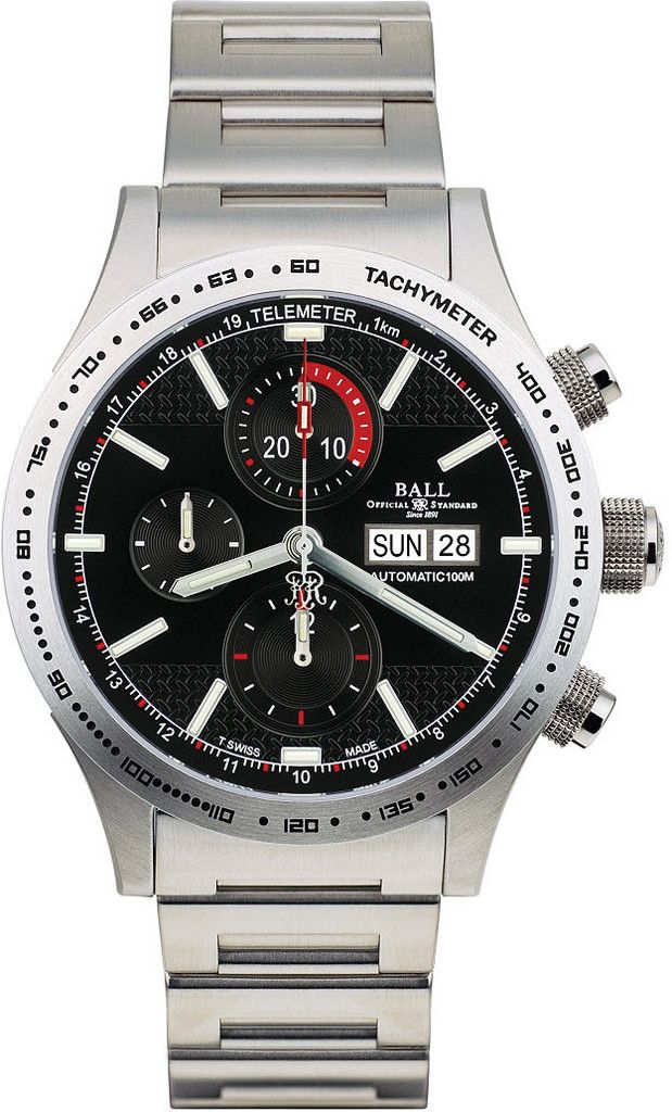BALL CM2092C-S-BK Fireman Storm Chaser Stainless Steel Watch