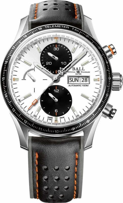 BALL CM3090C-L1J-WH Fireman Storm Chaser Pro Leather Watch