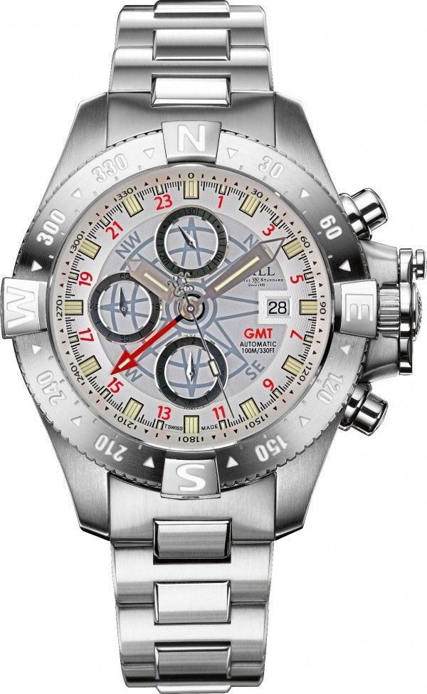 BALL DC2036C-S-WH Hydrocarbon Spacemaster Orbital II Watch