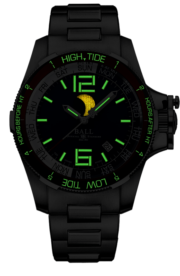 BALL DM3320C-SAJ-BE Moon Navigator Stainless 42mm Watch