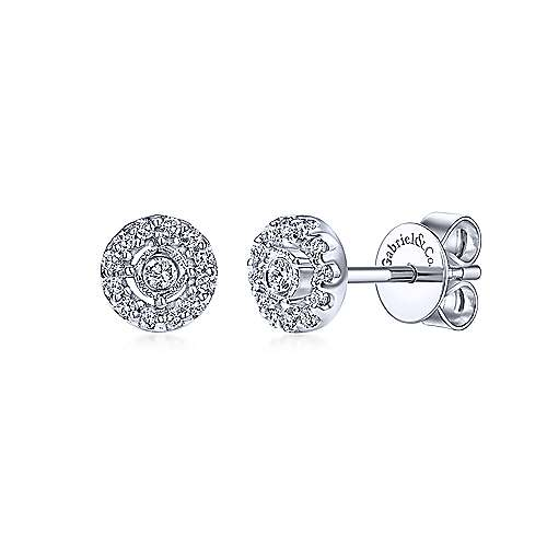Gabriel & Co. 14K White Gold Fashion 0.15ct Diamond Earrings EG10540W45JJ