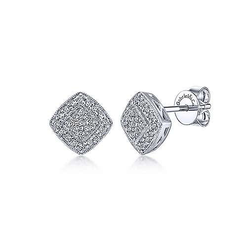 Gabriel & Co. 14K White Gold Fashion 0.24ct Diamond Earrings EG10705W45JJ
