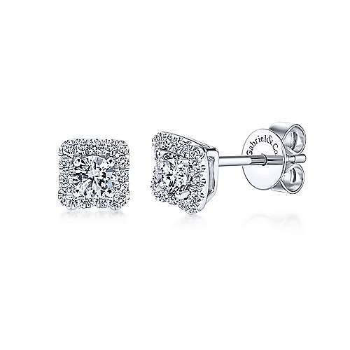 Gabriel & Co. 14K White Gold 0.20ct Diamond Earrings EG11327W45JJ