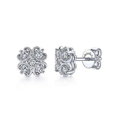 Gabriel & Co. 14K White Gold Fashion 0.35ct Diamond Earrings EG11810W45JJ