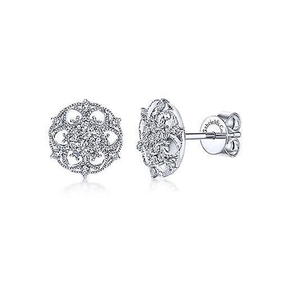 Gabriel & Co. 14K White Gold Fashion 0.34ct Diamond Earrings EG11992W44JJ
