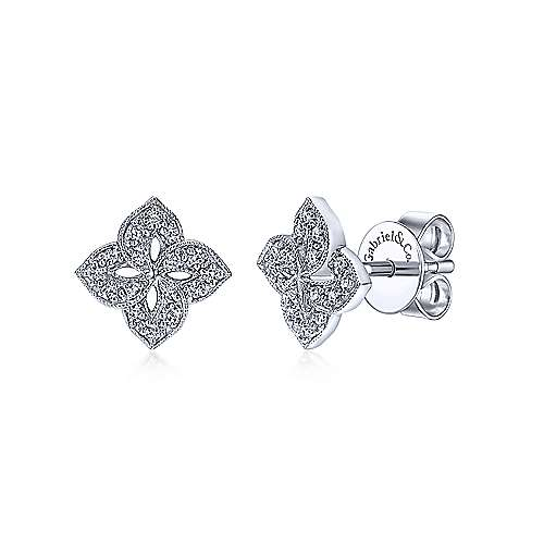 Gabriel & Co. 14K White Gold Fashion 0.14ct Diamond Earrings EG12157W45JJ