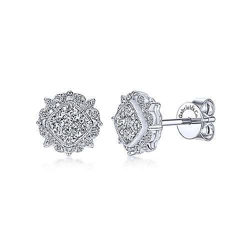 Gabriel & Co. 14K White Gold Fashion 0.42ct Diamond Earrings EG12180W45JJ