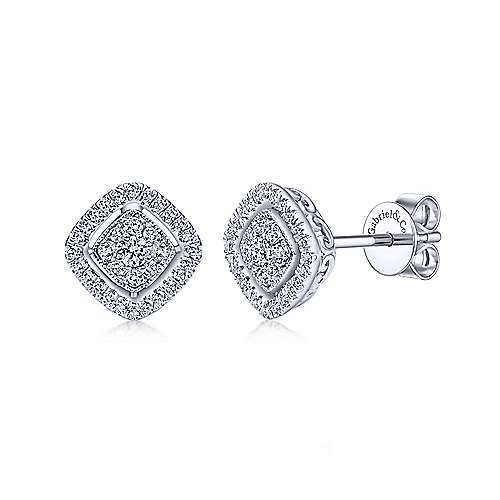 Gabriel & Co. 14K White Gold Fashion 0.32ct Diamond Earring EG12278W45JJ
