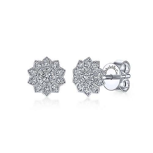 Gabriel & Co. 14K White Gold Diamond Earring EG12891W45JJ