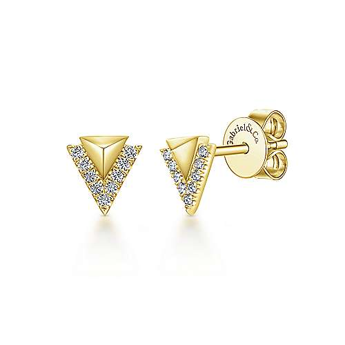 Gabriel & Co. 14K Yellow Gold Fashion 0.08ct Diamond Earrings EG13330Y45JJ
