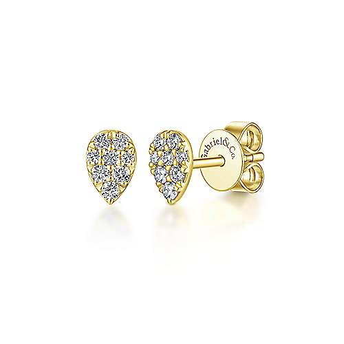 Gabriel & Co. 14K Yellow Gold Fashion 0.17ct Diamond Earrings EG13338Y45JJ