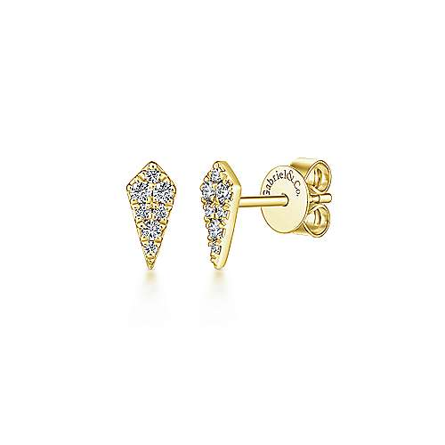Gabriel & Co. 14K Yellow Gold Fashion 0.15ct Diamond Earrings EG13339Y45JJ