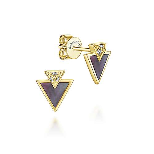 Gabriel & Co. 14K Yellow Gold Fashion Earrings 0.03ct Diamond EG13345Y45BM