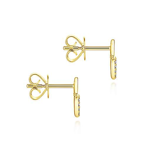 Gabriel & Co. 14k Yellow Gold Stacked Triangle 0.11ct  Diamond Stud Earrings EG13350Y45JJ