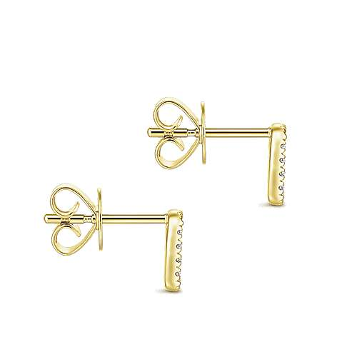 Gabriel & Co. 14k Yellow Gold Rectangular Open Pave 0.13ct Diamond Stud Earrings EG13351Y45JJ