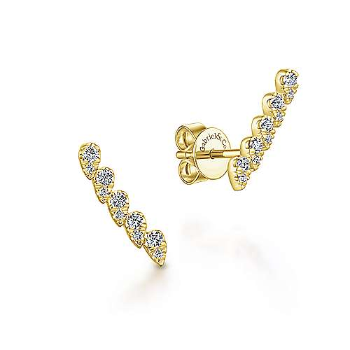 Gabriel & Co. 14K Yellow Gold Fashion 0.25ct Diamond Earrings EG13398Y45JJ