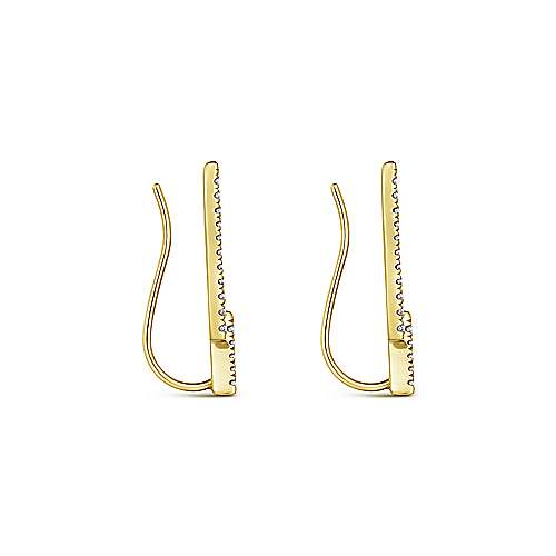 Gabriel & Co. 14K Yellow Gold Fashion 0.35ct Diamond Earrings EG13401Y45JJ