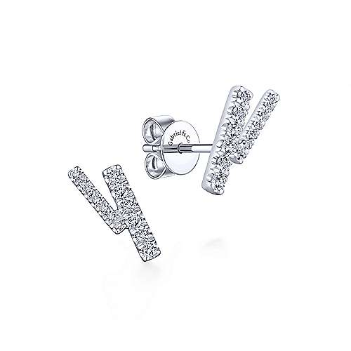 Gabriel & Co. 14K White Gold Fashion 0.27ct Diamond Earrings EG13408W45JJ