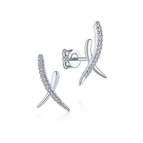 Gabriel & Co. 14K White Gold Fashion 0.15ct Diamond Earrings EG13413W45JJ