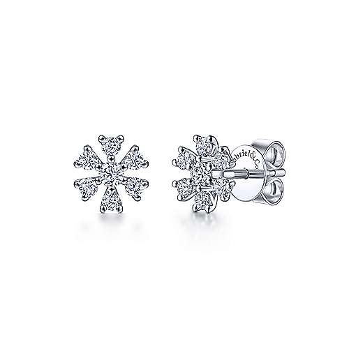 Gabriel & Co. 14K White Gold 0.24ct Diamond Earrings EG14274W45JJ