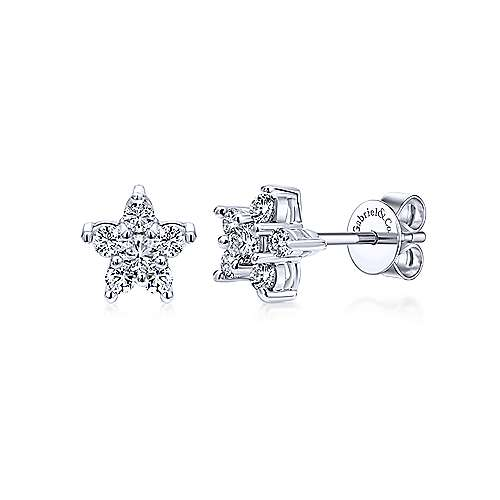 Gabriel & Co. 14K White Gold Fashion 0.28ct Earrings EG9163W45JJ