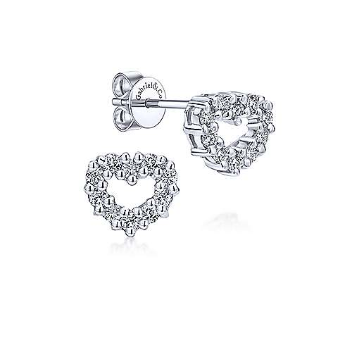 Gabriel & Co. 14K White Gold 0.33ct Diamond Earring EG9210W45JJ